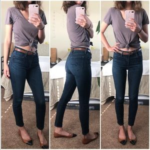 AG • Farrah high rise skinny crop jeans 27